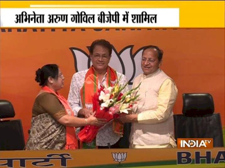 BJP में शामिल हुए 'भगवान राम', रामायण सीरियल से मशहूर हुए अभिनेता ने ज्वाइन की पार्टी