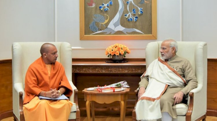 PM Modi से मिलने पहुंचे सीएम योगी, योगी कैबिनेट में हो सकता है बड़ा फेरबदल