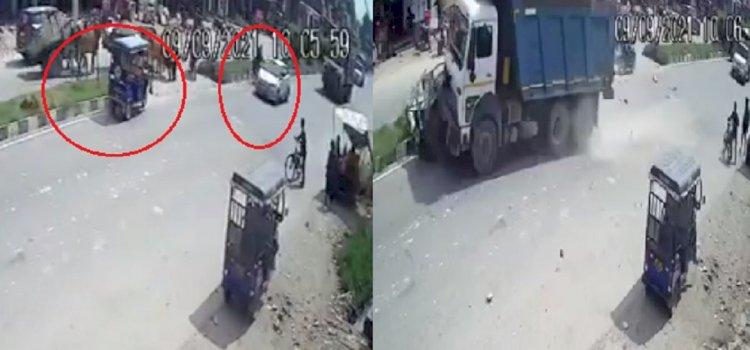 VIDEO : झारखंड में दिल दहला देने वाला सड़क हादसा, बिहार के पांच लोग जिंदा जले, कार के बस से टकराने पर लगी भयंकर आग