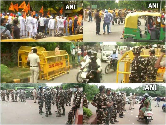 Farmer Protest : दिल्ली पुलिस ने कई जगहों पर की बैरिकेडिंग, रास्ते हुए बंद, धारा 144 लागू